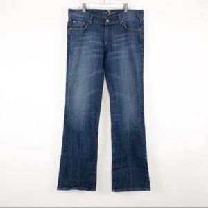 7FAM [30] (32x32) Bootcut Low Rise Studded Jeans